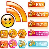 Vector Smiley RSS Set