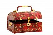 picture of dowry  - Cheap yet attractive red chest for treasures of girl - JPG
