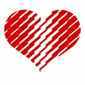 Scratched Heart Icon. Simple Illustration Of Scratched Heart Vector Icon For Web Design Isolated On  poster