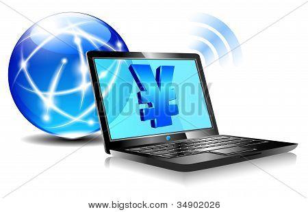 Pagamento de bancário on-line pela Internet