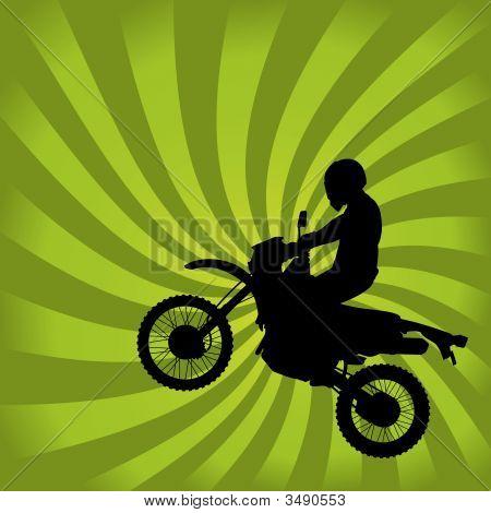 Jumping Dirt Bike Silhouette
