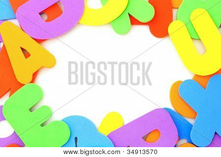 Colorful letter frame