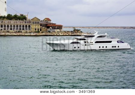 The Yacht Returned To The Berth