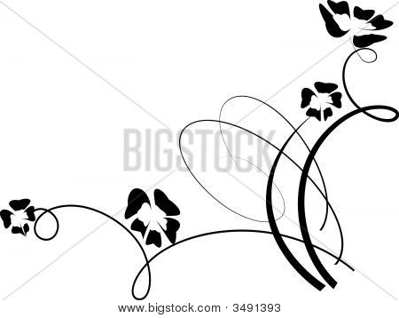 Vector Floral Design Element