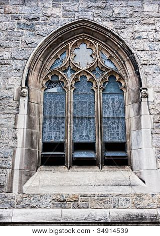Outside View Of Church Window