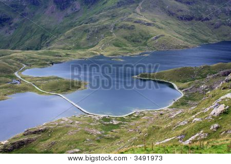 View Down From Snowdon Summit