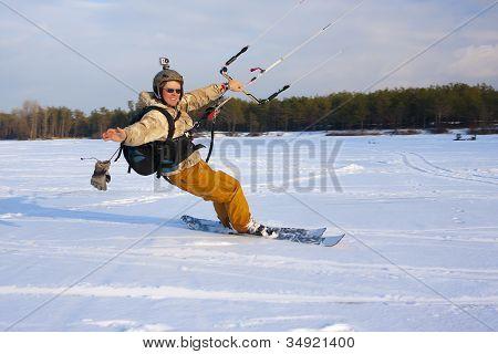 Sliding Ski-Kiter