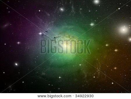 kleiner Teil eines unendlichen Sternenfeld