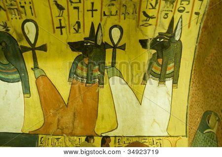 Sitting Anubis Gods