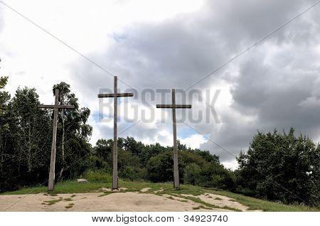 Three Crosses Hill In Kazimierz Dolny