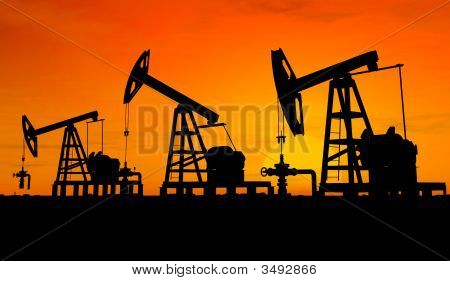 Silhouette Three Oil Pumps