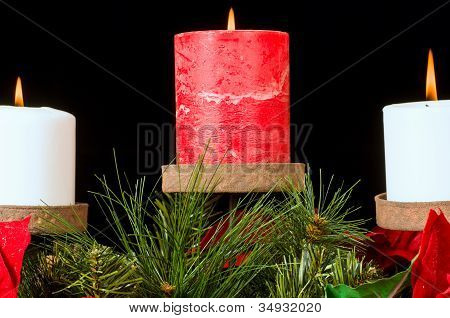Christmas Candle Display