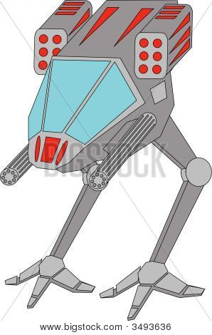 Vector Illustration Of Space Robot