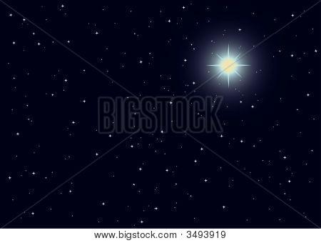 Vector Illustration Of Supernova Star