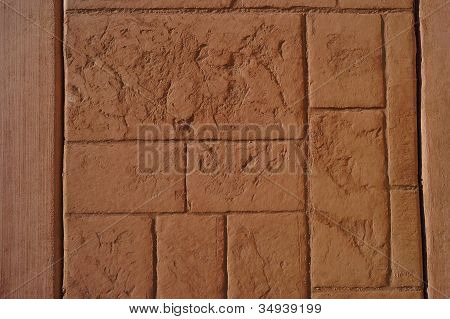 textured stamped concrete walkway