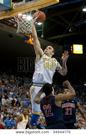 LOS ANGELES - FEB 26: UCLA Bruins forward Reeves Nelson #22 during the NCAA basketball game between the Arizona Wildcats and the UCLA Bruins on Feb 26, 2011 at Pauley Pavilion.