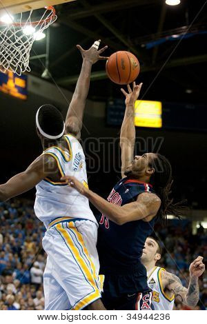 LOS ANGELES - FEB 26: Arizona Wildcats forward Jesse Perry #33 during the NCAA basketball game between the Arizona Wildcats and the UCLA Bruins on Feb 26, 2011 at Pauley Pavilion.