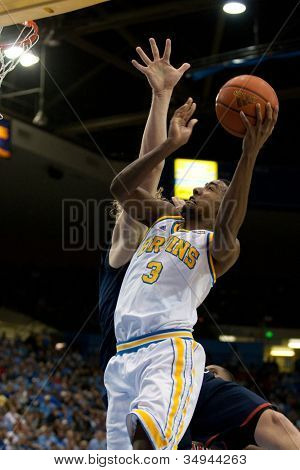 LOS ANGELES - FEB 26: UCLA Bruins guard Malcolm Lee #3 during the NCAA basketball game between the Arizona Wildcats and the UCLA Bruins on Feb 26, 2011 at Pauley Pavilion.