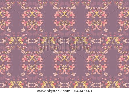 Seamless wallpaper on victorian style
