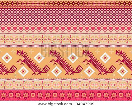 Aztecs seamless pattern