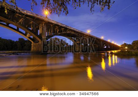 Gervais Street Bridge in Columbia, South Carolina, USA.
