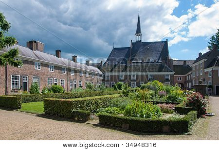 Dutch Beguinage On A Summer Day