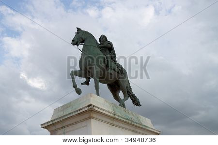 Statue Of Louis Xiv On The Place Bellecour, Lyon, France
