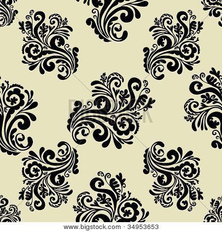 Vintage background, seamless pattern