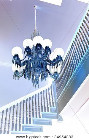 elegant blue chandelier