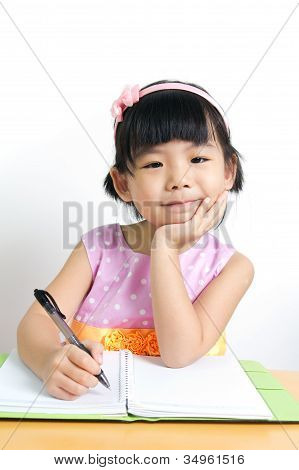 Kid Is Doing Homework