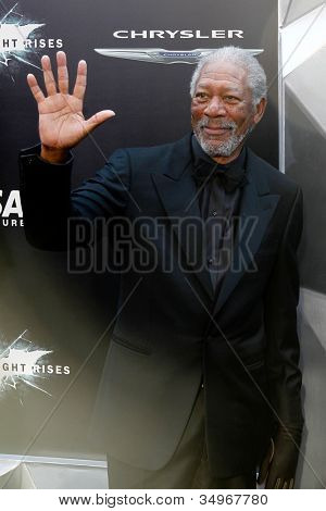 NEW YORK-JULY 16: Actor Morgan Freeman attends the world premiere of