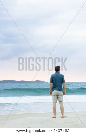 Man On The Beach