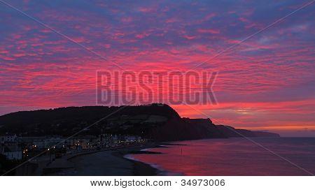 Sunset Sidmouth