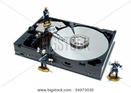 Computer hard disk Drive Konzept für Sicherheit