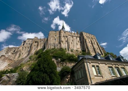 Mont Saint-Michel From Below