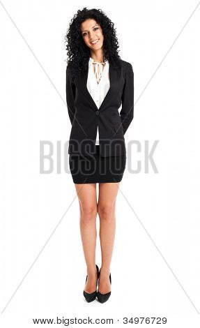 Full length image of confident business woman full length
