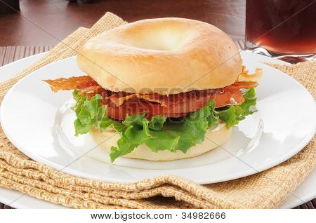 Blt Sandwich On A Bagel
