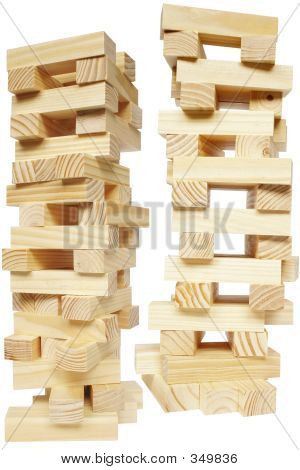 Wood Block Towers