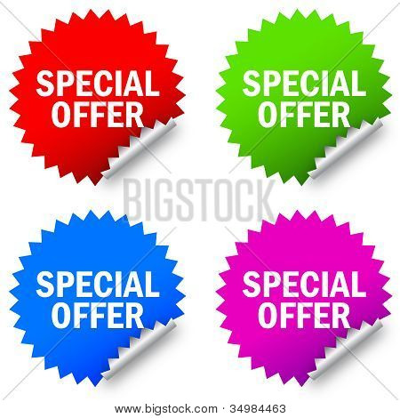 Vector special offer label