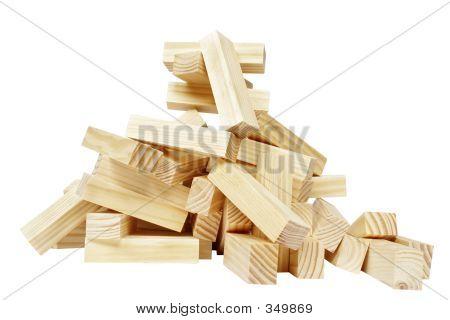 Wood Block Pile