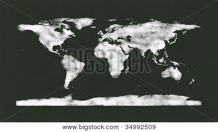 Chalkboard - Chalk World Map