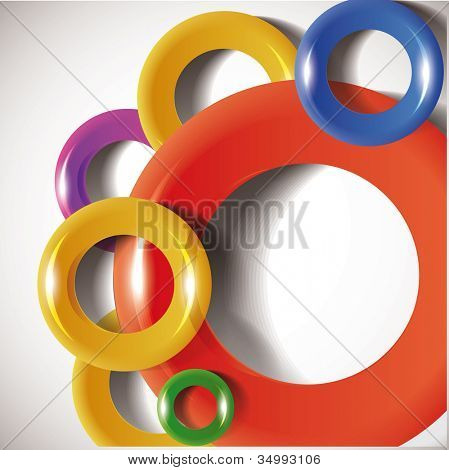 Plastic torus. Abstract background. Eps10 .Image contain transparency and various blending modes