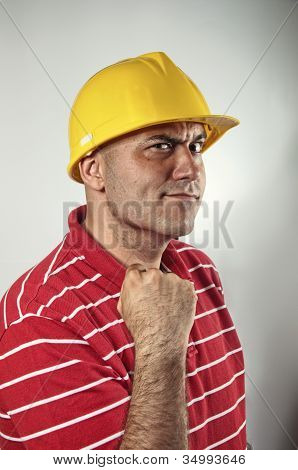Young Construction Worker Confident