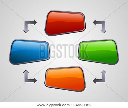 Fresh Glossy Social Media Diagram Presentation