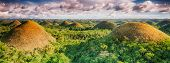 image of chocolate hills  - Panorama of The Chocolate Hills - JPG