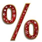 Christmas Percent Symbol