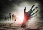 stock photo of eerie  - Zombie Rising - JPG