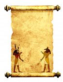 pic of horus  - Scroll with Egyptian gods images  - JPG