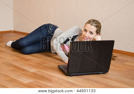 The Beautiful  Woman With The Laptop