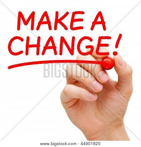 Hacer un cambio